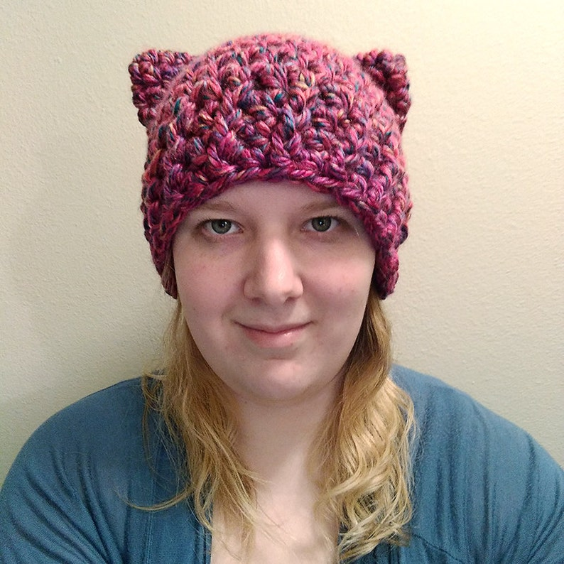 Crochet Hat pattern cat ear beanie pattern kitty hat  d7a45380a19