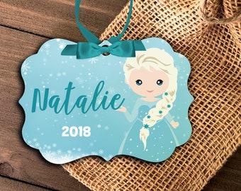 princess ornament | girl's princess ornament | ice snow princess ornament | girls annual ornament | grandchild ornament |  MBO-042