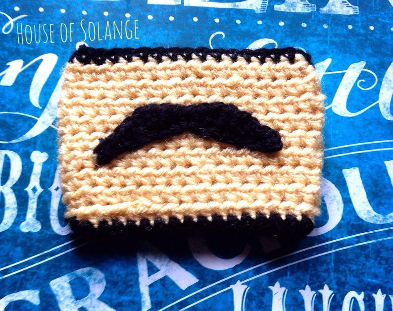 Mustache Cup Cozie Yellow Coffee Cozie Mustache Tea Cozy image 0