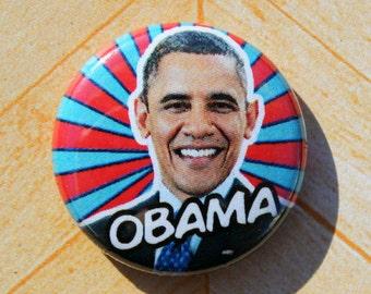President Barack Obama Democrat- One Inch Pinback Button Magnet