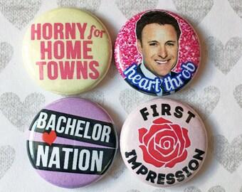 Bachelorette Bachelor Nation Chris Harrison SET- one inch pinback buttons