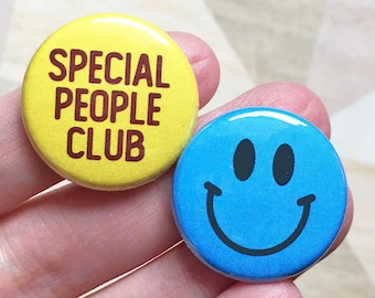 Special People Club Welcome to the Dollhouse- one inch pinback button set