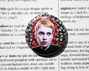 Rosemary's Baby Mia Farrow-One Inch Pinback Button Magnet