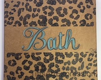 Golden Jungle BATH original on canvas