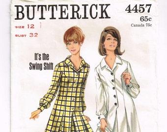 Vintage Butterick Dress Sewing Pattern 4457 in FACTORY FOLDS