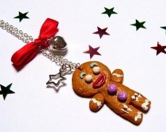 Necklace little cookie snowman gingerbread