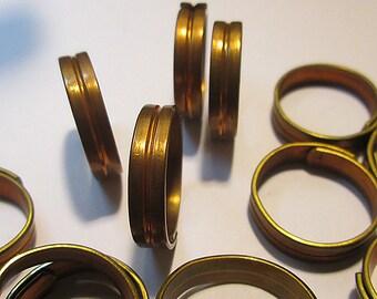 6 Vintage Copper Adjustable Rings