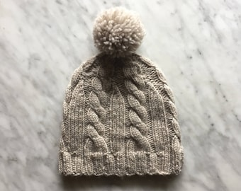 0ff679574d4 Cabled Wool Winter Hat. NotYourGrandmasKnitw