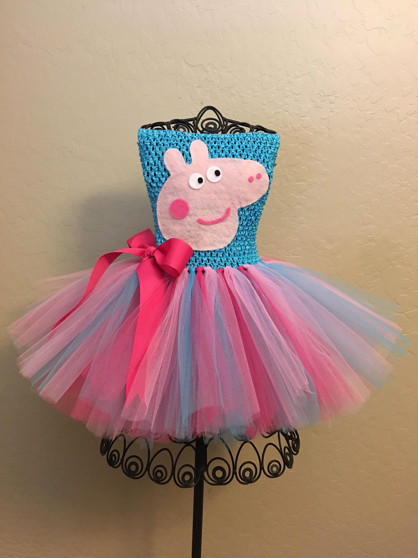Peppa Pig Tutu Costume Peppa Pig Tutu Peppa Pig Costume Peppa Pig Halloween Costume Peppa Pig Birthday Outfit Peppa Pig Tutu