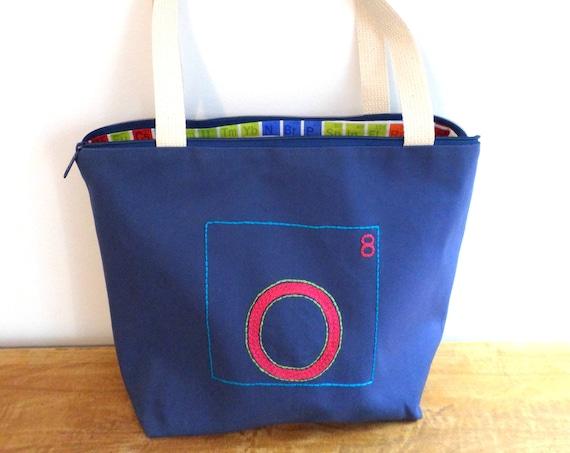 Periodic Table of Elments Zipper Canvas Tote Bag