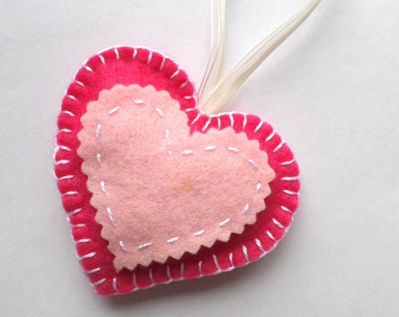 Valentine Heart Keepsake Kit, Beginner Sewing / Embroidery Activty Kit
