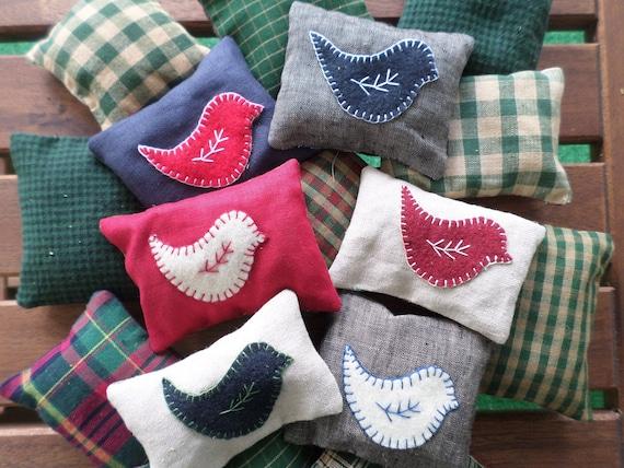 Maine Balsam Fir Sachet, Hand Embroidered, Made in Maine