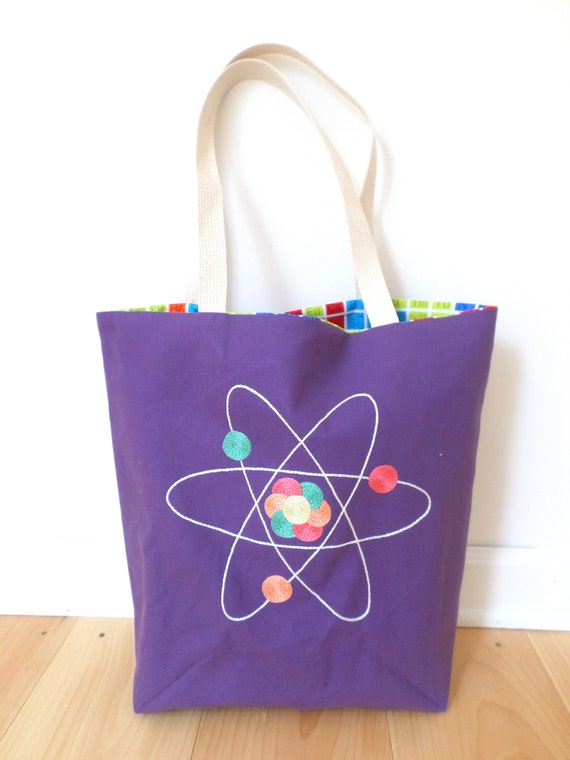 Atom Tote Bag - Periodic Table of Elments Tote Bag, Made in Maine