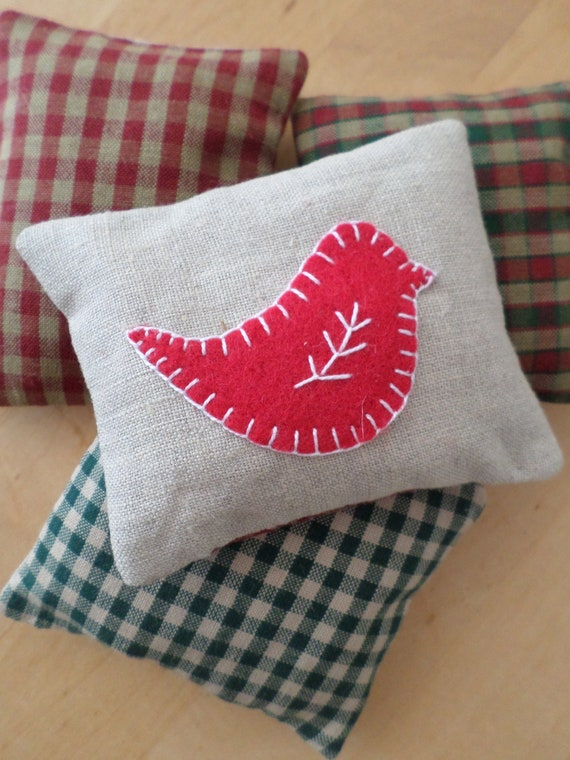 Maine Balsam Fir Sachet, Hand Embroidered, Made in Maine