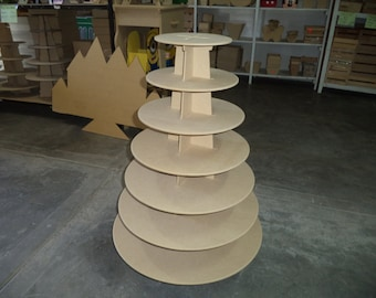 7 tier cupcake stand made of MDF wood. Up to 150 cupcakes capacity