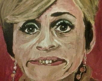 Jerri Blank (Strangers with Candy) 10x14 Print of Acrylic Portrait