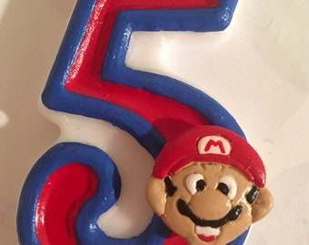Mario inspired  candle numbers
