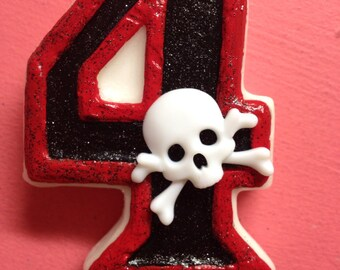 Pirate birthday candle