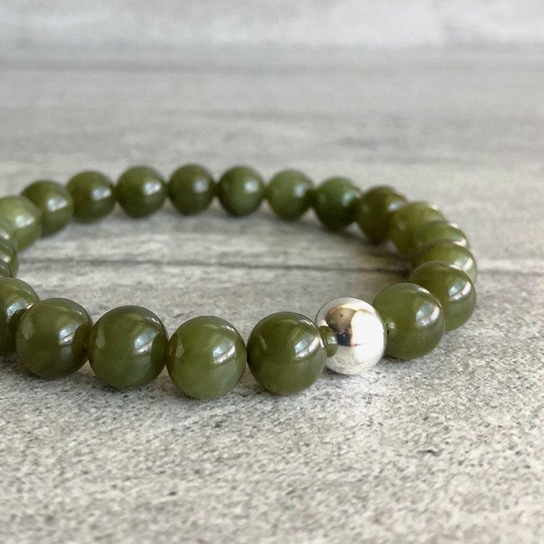 Real Jade Bracelet  Genuine Nephrite Jade Jewelry  Green image 0