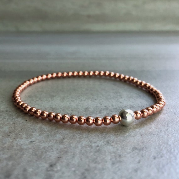Solid Copper Bracelet Custom Sizing Handmade with Positive Energy