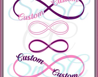 Infinity Circle SVG Split Custom Name Date Number Ribbon Frame Border Beach Grad Mom Welcome Home Ball Life Mom Forever Friend 2 Love 2018.