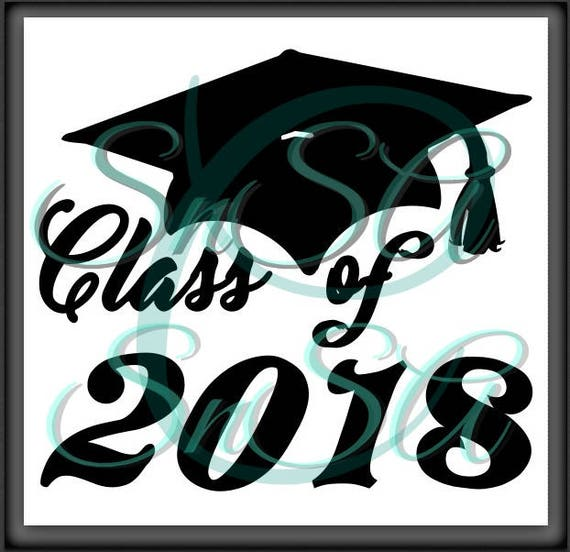 Senior SVG Class of 2018 Graduation Cap Gown Tassel Proud Mom   Etsy