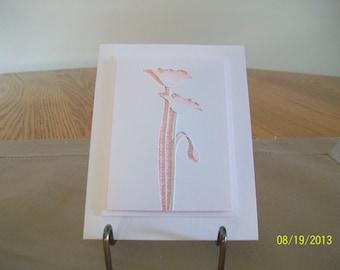 Elegant Pink Poppy Birthday Card
