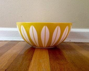 Vintage Yellow Lotus Bowl