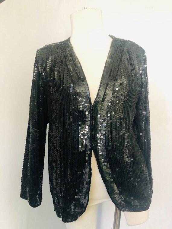 Beaded Silk Blazer