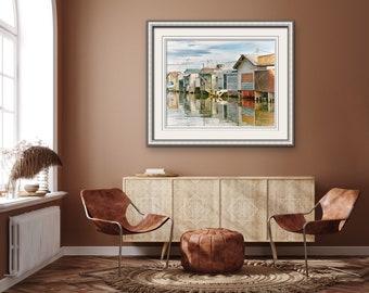 Finger Lakes Photos, Canandaigua Photos, New York Landmarks, Boat House Art, Summer Prints, Vintage Style, Cottage Decor, Casual Home Decor