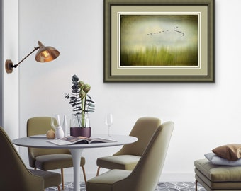 Abstract Landscape, Nature Print, Spring Trees, Calm, Serene, Green, Modern, Wall Art, Bedroom Art, Bath Spa Art, Office Art, Fine Art Photo