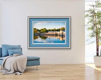 Philadelphia Wall Art, Photograph, City Landmarks, Waterworks, Schuylkill River, Philly Prints, Modern Wall Art, Office Wall Art, Philly Art