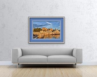Philadelphia Photo Prints, Landmarks, Art Museum Waterworks, City Architecture, Philly Photos, Wall Art, Home Decor, Office, Boat House Row