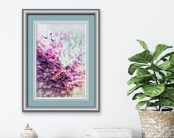 Abstract Wall Art, Spring Landscape Print, Fine Art Photo, Japanese Maple Tree, Bright Nature Art, Modern Wall Art, Modern Decor, Office Art