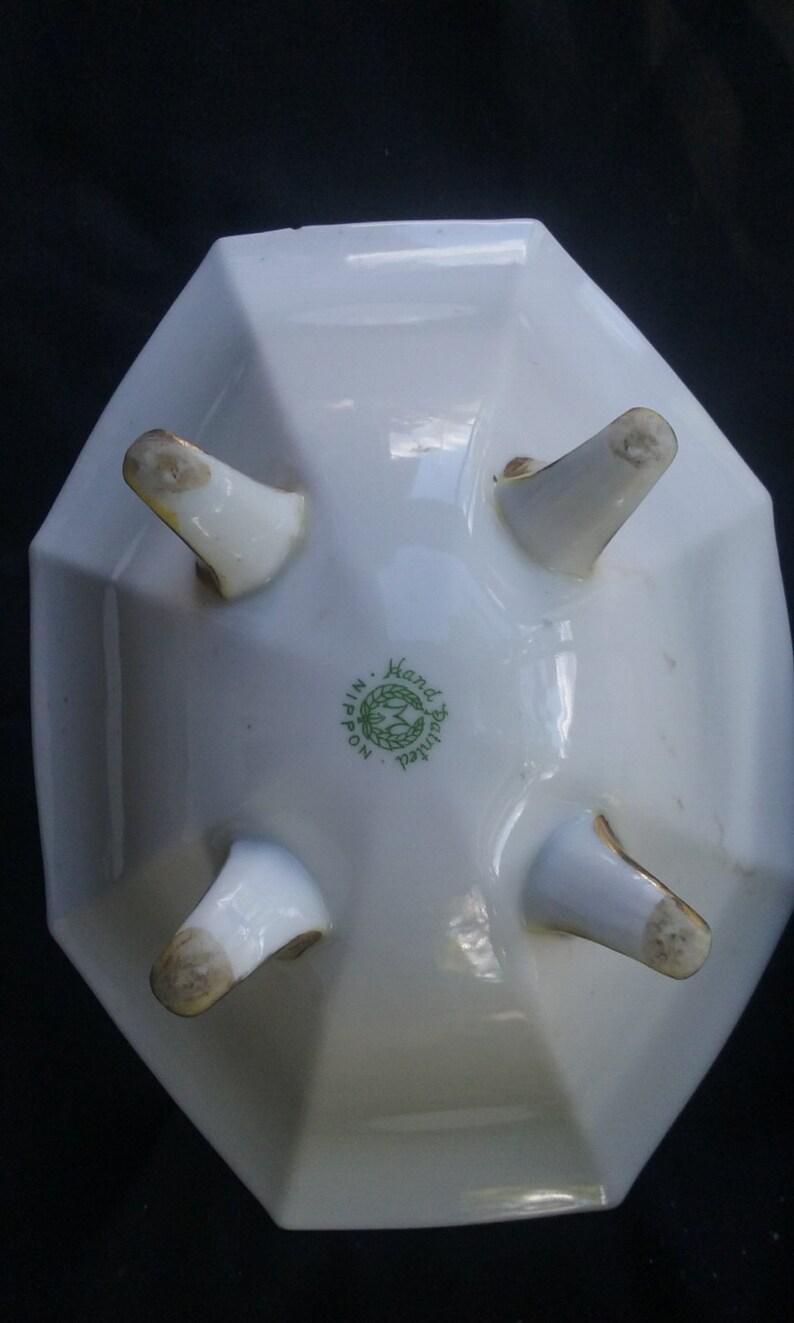 Porcelaine Nippon vintage des années 1930, porcelaine japonaise de Nippon, plat de bonbons en porcelaine, plat antique de porcelaine de Nippon