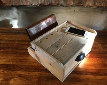 Charging/Docking Station from Recycled Pallets