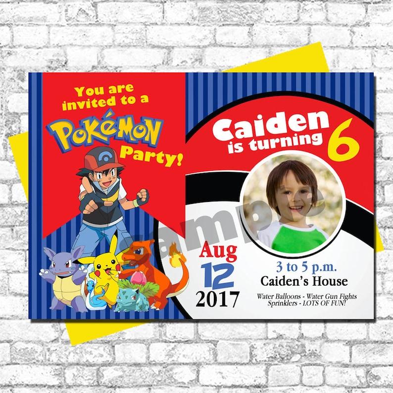 photo about Printable Pokemon Birthday Invitations called Printable Pokemon Birthday Invitation - 5x7 - Pokemon Move
