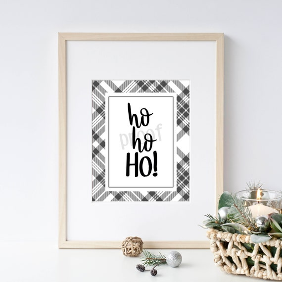 image relating to Printable Christmas Signs identify Printable Xmas Indicators - Ho Ho Ho - Wall Artwork/Wall Decor - Fast Down load -