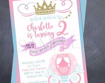Printable Cinderella Birthday Invitation - Cinderella - Fairy Tale - Princess - birthday
