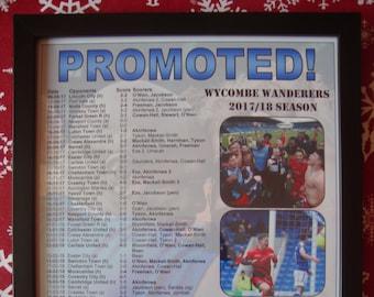 Wycombe Wanderers League Two promotion 2018 - souvenir print