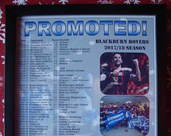 Blackburn Rovers League One finalistes 2018 - souvenir impression