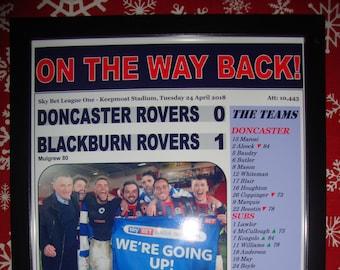 Doncaster Rovers 0 Blackburn Blackburn Rovers 1 - 2018 - promu - souvenir impression