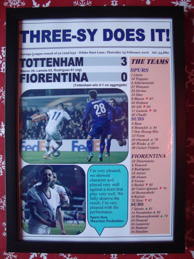 Hotspur 3 2016 0 League Fiorentina Europa Tottenham Print Souvenir Ib7gvfyY6m