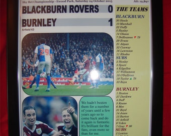 Blackburn Rovers 0 Burnley 1-2015 - souvenirs imprimés