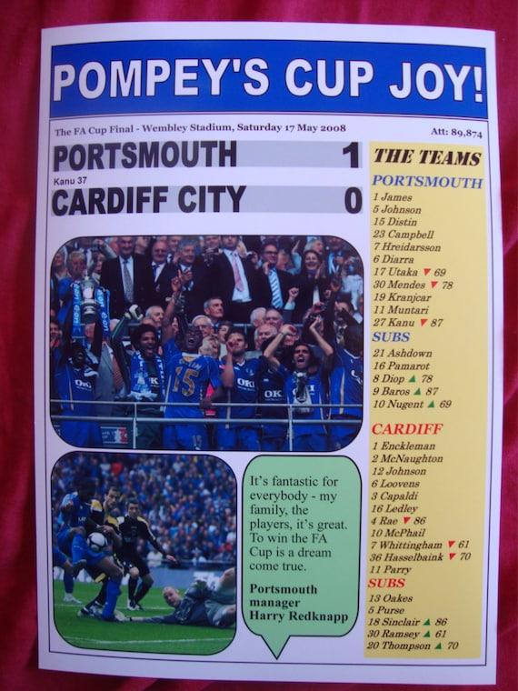 Portsmouth FC Print Kanu FA Cup 2008 Final Print