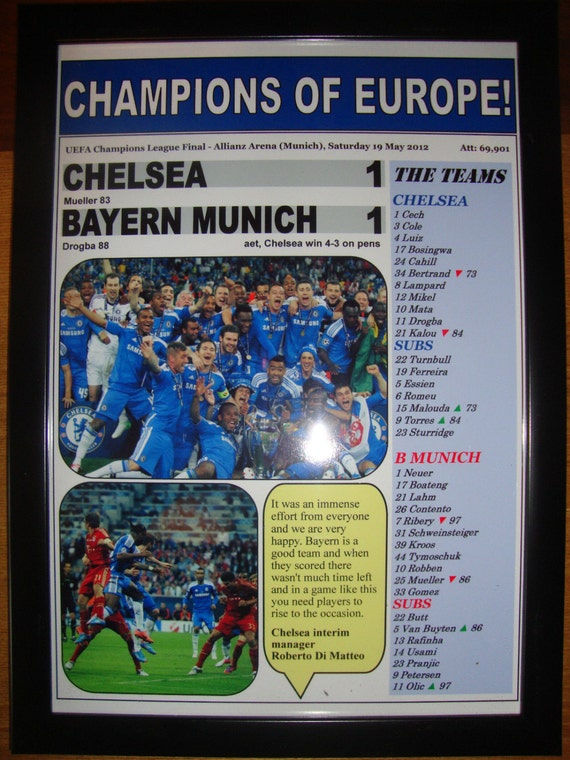Chelsea FC 3 Photo UEFA Champions League Print Football Picture Sports Poster