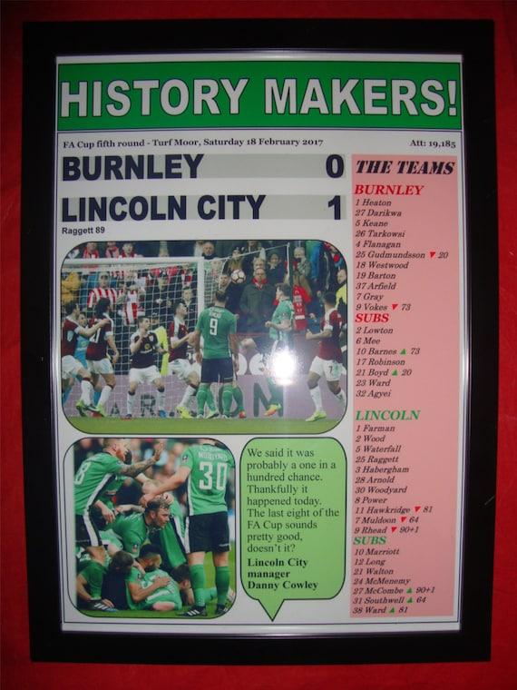 Lincoln City League Two champions 2019 souvenir print