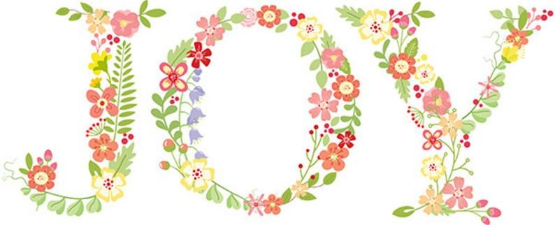 Spring Letters Monograms clip-art flowers WILDFLOWERS Alphabet CU card-making Stationery printable Graphics digital scrapbooking