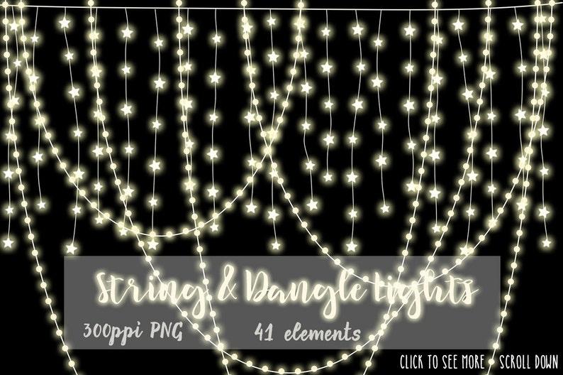 Kitschige Weihnachtsbeleuchtung.Schnur Licht Baumelt Clip Art Weihnachten Grafiken Weihnachtsbeleuchtung Briefpapier Instant Download Cu Baum Lichterketten Hängelampen