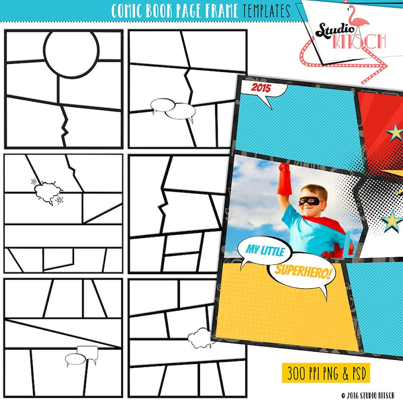 picture regarding Printable Comic Strip Template referred to as Do it yourself Comedian E book Clip Artwork, templates, Comedian Strip, Superhero, Cartoon, Tale, Acquire your particular tale, tale e-book, Quick Down load, backgrounds